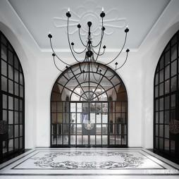 琥珀大楼入口设计图片