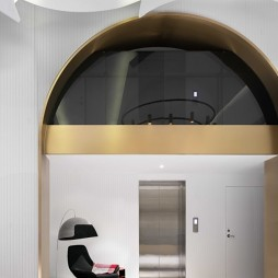 琥珀大楼电梯厅实景图