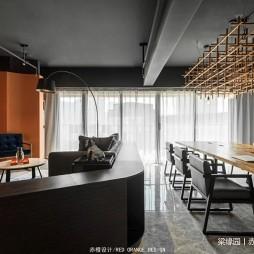 赤橙办公空间办公桌设计