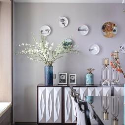 素雅美式餐廳儲物柜設計