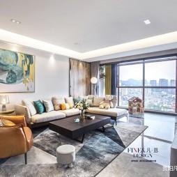 金色阳光现代风客厅沙发图