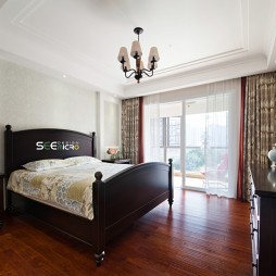 《简行》美式主卧室设计