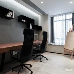 四居现代书房书桌设计