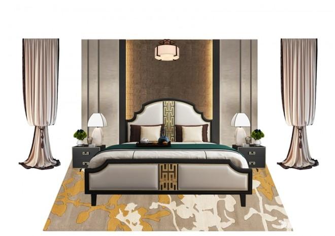 别墅软装方案中式_3588585