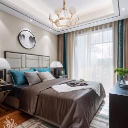 简约新中式卧室吊灯图片
