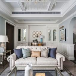 美式别墅客厅沙发图