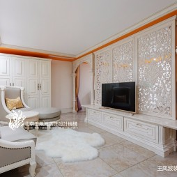 法式风格别墅卧室实景图片