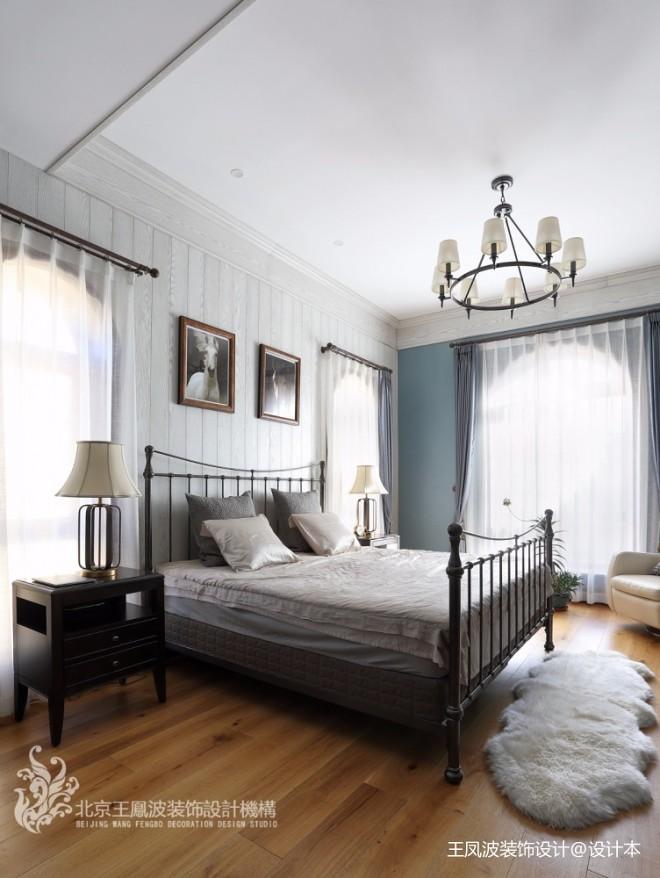 温情美式风卧室吊灯图片