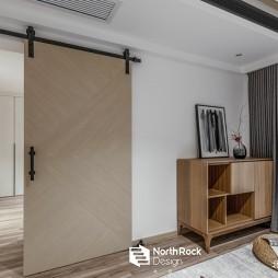 安和混搭风卧室谷仓门设计