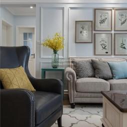 清新美式客厅设计