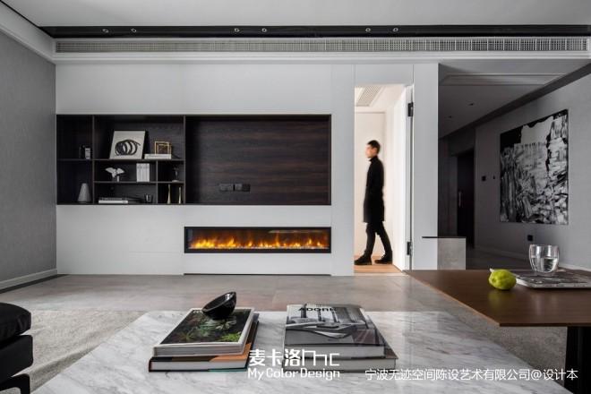 黑白灰现代风客厅设计图片