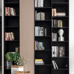 盐系风客厅书柜设计