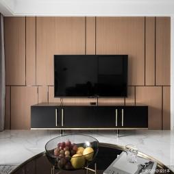 黑白系现代三居客厅电视柜设计