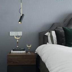 精致浅咖卧室吊灯图片