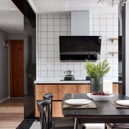 95平简约风餐厅厨房设计图
