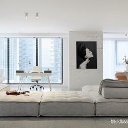 极简公寓客厅实景图