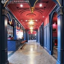 英式风格售楼处走廊设计