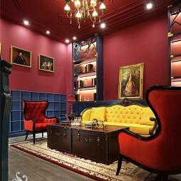 英式风格售楼处VIP室设计