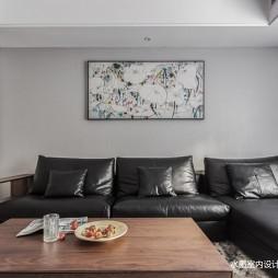 300㎡复式客厅L型沙发图