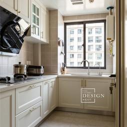 柔和美式厨房设计图