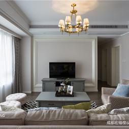 柔软美式客厅吊灯图片
