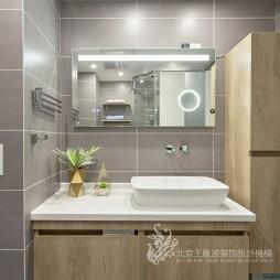 现代风格三居洗手台设计图片