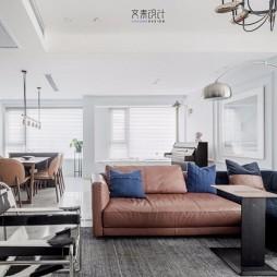 现代复古客厅沙发图片