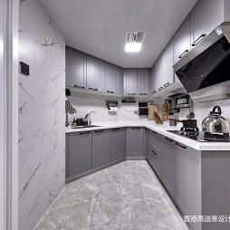 简单整洁美式厨房设计图