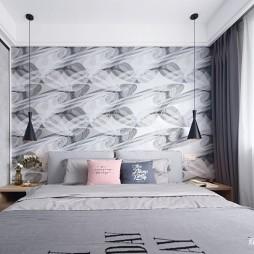 北欧极简卧室设计图