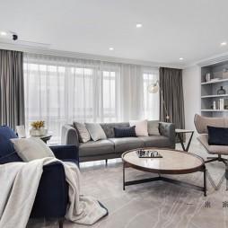 现代美式客厅沙发图片