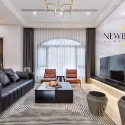 现代简约别墅豪宅客厅实景图片