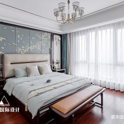 新中式主卧室实景图片