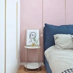 清新淡雅风卧室床头设计图