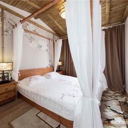 153㎡徽派中式风卧室图片