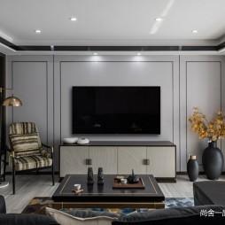 新中式   客厅背景墙设计图