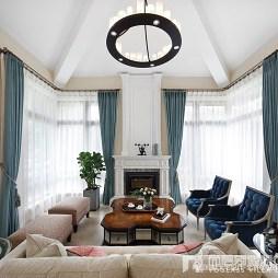 闲适美式风会客厅设计图