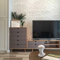 「沐春风」北欧极简客厅背景墙设计