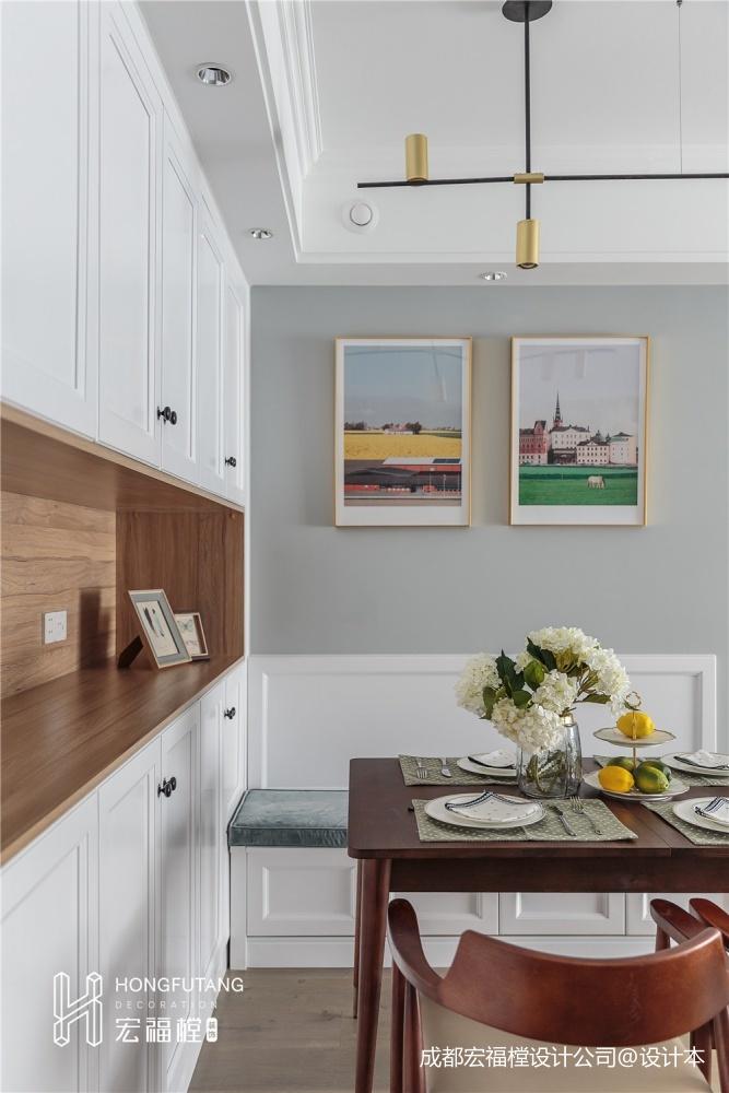 舒适北欧风餐厅储物柜设计图