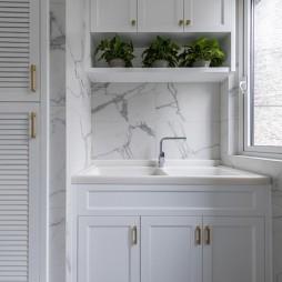 休闲美式洗衣间洗手台设计