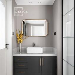 轻奢精致风卫生间洗手台设计