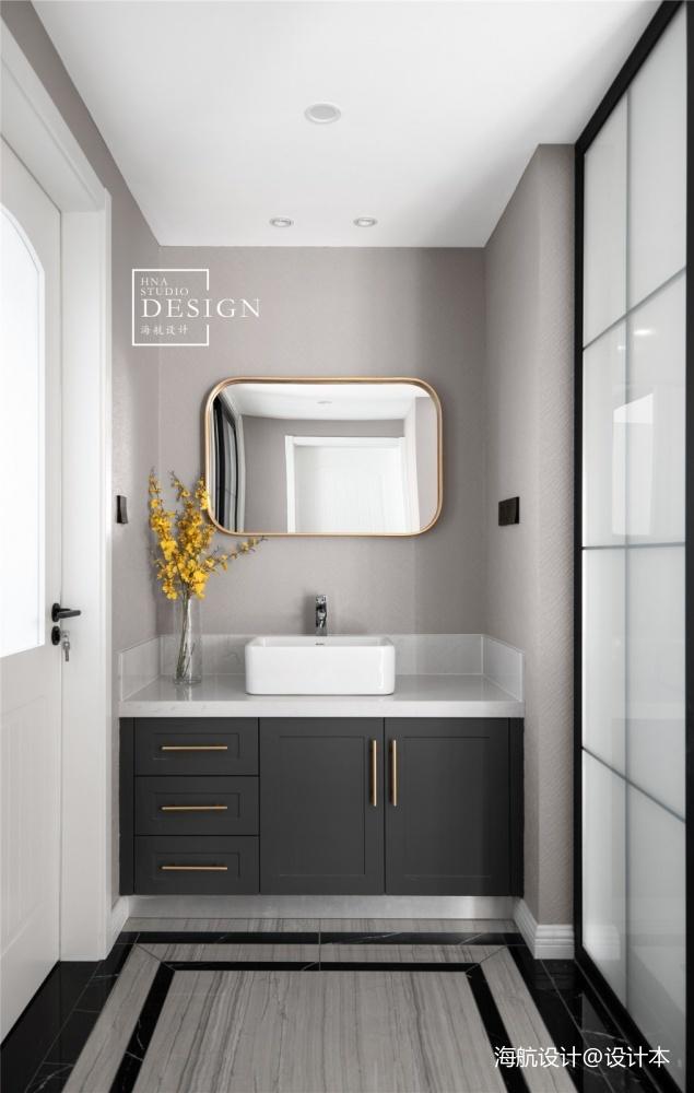 精致生活空间_轻奢精致风卫生间洗手台设计 – 设计本装修效果图