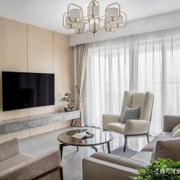 170㎡简洁新中式—客厅图片
