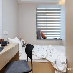 北欧极简原木小屋—卧室图片
