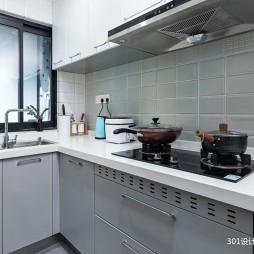 北欧极简原木小屋—厨房图片