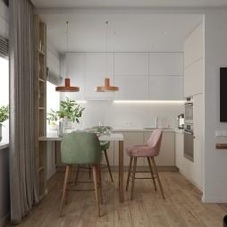 70平米现代简约—厨房图片