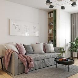 70平米现代简约—客厅图片