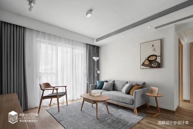 72平米日式风格—客厅图片