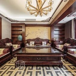 124平米中式现代—客厅图片