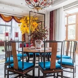 新中式风格别墅装修—餐厅图片