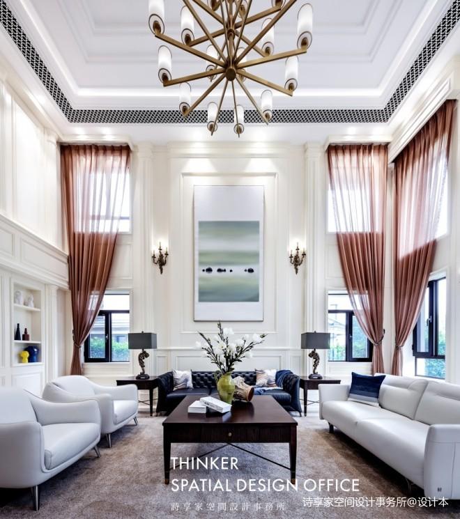 武汉诗享家 | 平衡艺术,诠释诗意美式——客厅图片